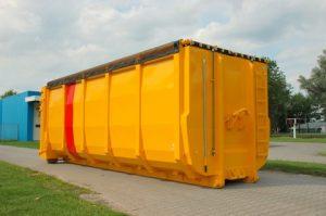 Gele containerzeil