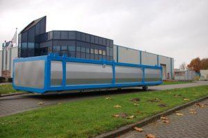Grijs blauwe containerzeil