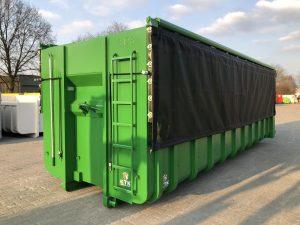 Groene containerzeil