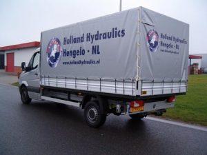 Holland hydraulics vrachtwagenzeil