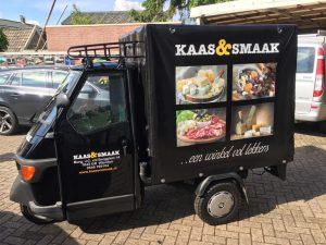 Kaas en smaak marktwagen