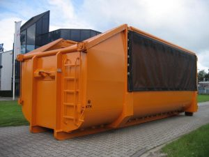 Oranje containerzeil