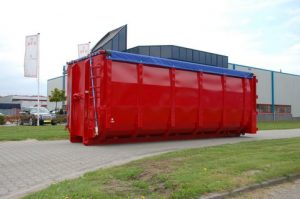 Rode containerzeil