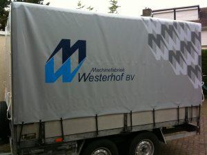 Westerhof aanhangerzeil